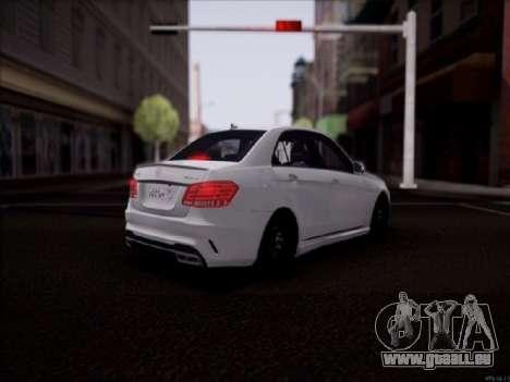Mercedes-Benz E63 für GTA San Andreas zurück linke Ansicht