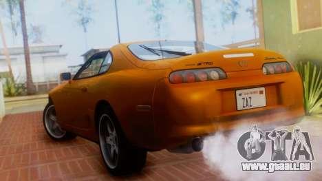 Toyota Supra TRD 1998 pour GTA San Andreas laissé vue