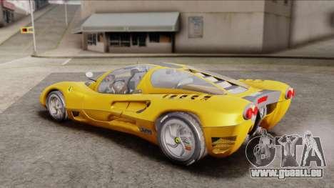 Ferrari P7 Normal pour GTA San Andreas sur la vue arrière gauche