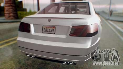 GTA 5 Benefactor Stretch E Turreted IVF pour GTA San Andreas vue de côté