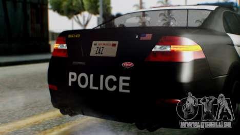 GTA 5 Police LS pour GTA San Andreas vue de dessus