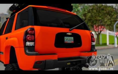 Chevrolet Traiblazer Off-Road pour GTA San Andreas vue intérieure