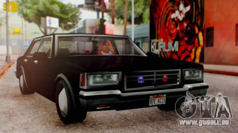Unmarked Police Cutscene Car Normal pour GTA San Andreas