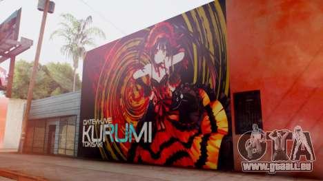 Kurumi Tokisaki Graffiti pour GTA San Andreas deuxième écran