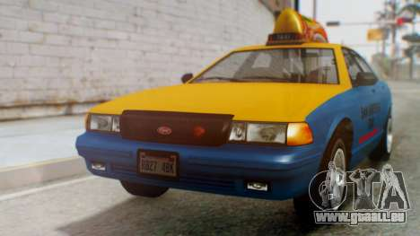 Vapid Taxi with Livery pour GTA San Andreas