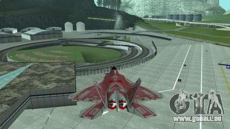 F-22 Raptor PJ für GTA San Andreas linke Ansicht