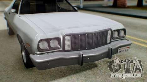 Ford Gran Torino 1974 IVF für GTA San Andreas Innen