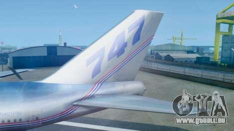 Boeing 747-400 Prototype (N401PW) pour GTA San Andreas sur la vue arrière gauche