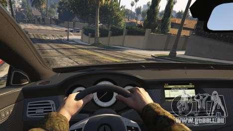 GTA 5 Mercedes-Benz CLS 63 AMG v.1.2 arrière droit vue de côté