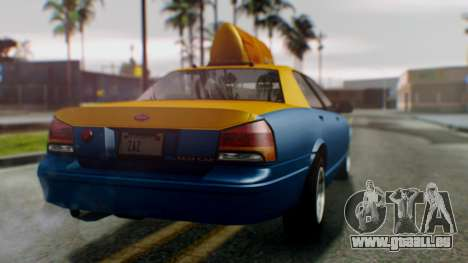 Vapid Taxi pour GTA San Andreas laissé vue