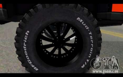 Chevrolet Traiblazer Off-Road für GTA San Andreas rechten Ansicht
