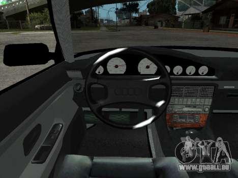 Audi 100 C4 1992 für GTA San Andreas Innenansicht