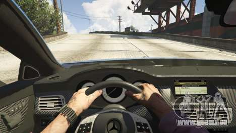 GTA 5 Mercedes-Benz CLS 6.3 AMG 1.1 vue arrière