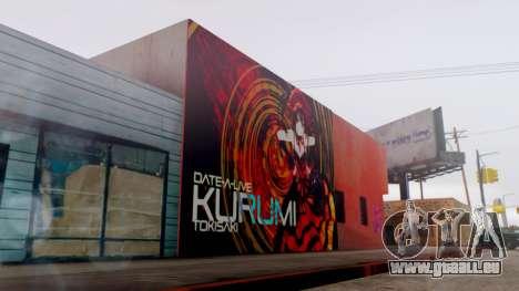 Kurumi Tokisaki Graffiti pour GTA San Andreas troisième écran