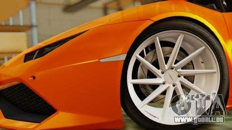 Lamborghini Huracan LP610-4 2015 pour GTA San Andreas sur la vue arrière gauche