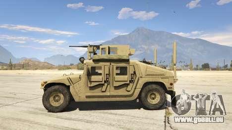 GTA 5 M1116 Humvee Up-Armored 1.1 linke Seitenansicht
