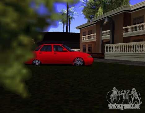 VAZ 2110 KBR pour GTA San Andreas laissé vue