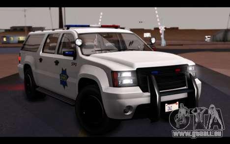 GTA 5 Declasse Sheriff Granger IVF pour GTA San Andreas vue de dessous