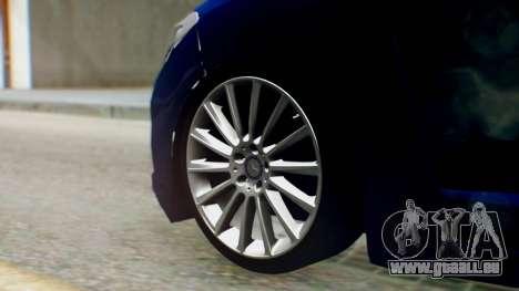 Renault Fluence King pour GTA San Andreas sur la vue arrière gauche