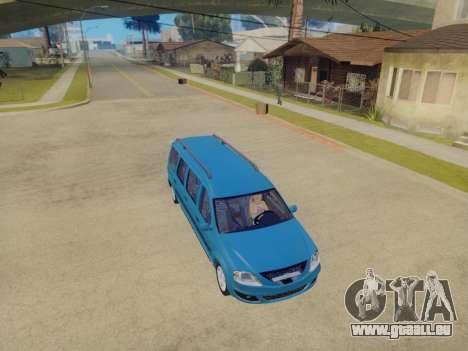 Lada Largus 7-door pour GTA San Andreas vue arrière