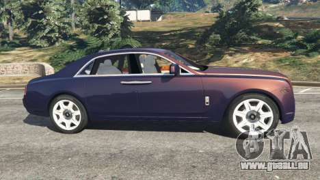 GTA 5 Rolls Royce Ghost 2014 v1.2 vue latérale gauche