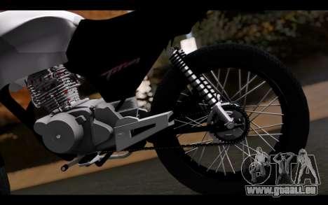 Honda CG Titan 150 Stunt Imitacion für GTA San Andreas Rückansicht