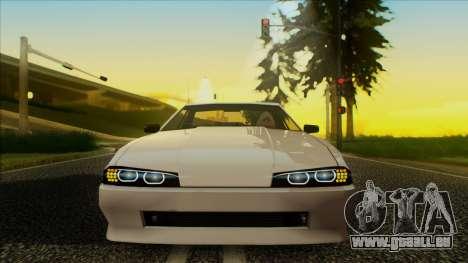 Elegy HellCat pour GTA San Andreas sur la vue arrière gauche