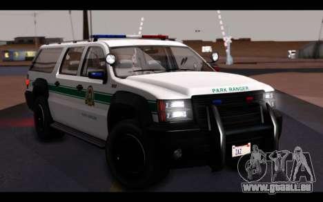 GTA 5 Declasse Sheriff Granger IVF für GTA San Andreas obere Ansicht