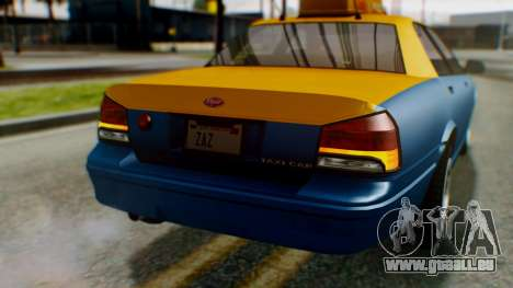 Vapid Taxi für GTA San Andreas obere Ansicht