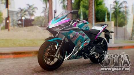 Yamaha R25 2015 EV Mirai Miku Racing 2013 pour GTA San Andreas