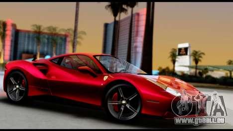 Ferrari 488 GTB 2016 pour GTA San Andreas vue de droite