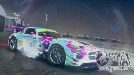 Mercedes-Benz SLS AMG GT3 2015 Hatsune Miku für GTA San Andreas