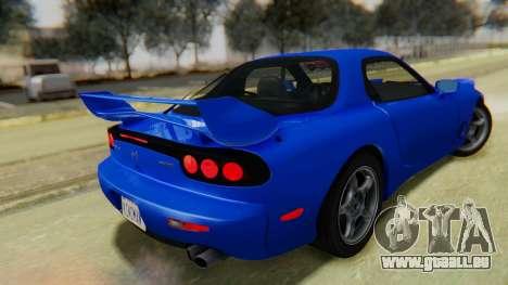 Mazda RX-7 1993 v1.1 pour GTA San Andreas laissé vue