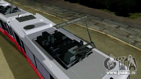 GTA 5 Metrotrain für GTA San Andreas zurück linke Ansicht