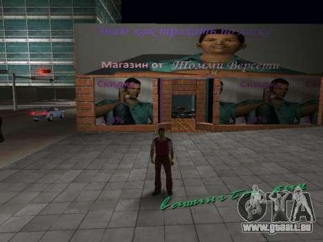 Boutique de Tommy Vercetti pour GTA Vice City