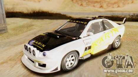 GTA 5 Karin Sultan RS IVF pour GTA San Andreas vue intérieure