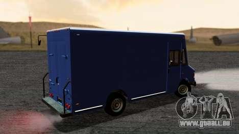 Boxville from GTA 5 without Dirt pour GTA San Andreas sur la vue arrière gauche