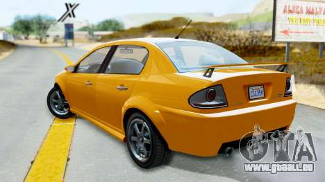 GTA 5 Declasse Premier Coupe für GTA San Andreas linke Ansicht