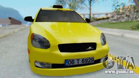 Hyundai Accent Era pour GTA San Andreas vue de droite