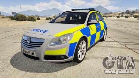 Police Vauxhall Insignia Estate für GTA 5