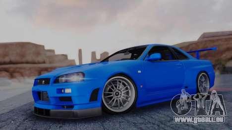 Nissan Skyline R34 Full Tuning für GTA San Andreas