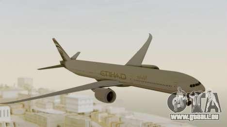 Boeing 777-9x Etihad Airways pour GTA San Andreas sur la vue arrière gauche