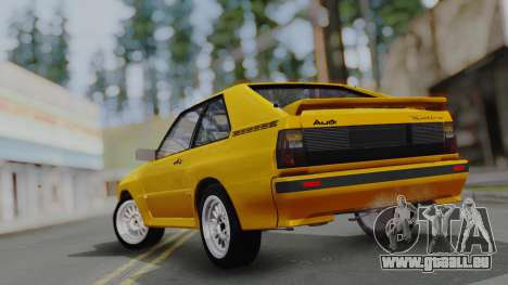 Audi Quattro Coupe 1983 pour GTA San Andreas moteur