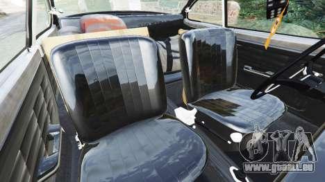 GTA 5 Volkswagen Karmann-Ghia Typ 14 1967 droite vue latérale