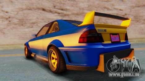 GTA 5 Karin Sultan RS Carbon pour GTA San Andreas sur la vue arrière gauche