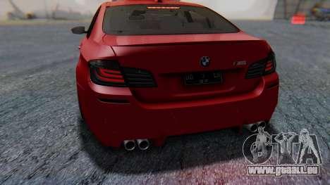 BMW M5 2012 Stance Edition für GTA San Andreas Innen