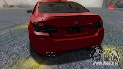 BMW M5 2012 Stance Edition für GTA San Andreas Unteransicht