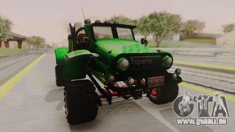 Mudmonster pour GTA San Andreas vue de droite
