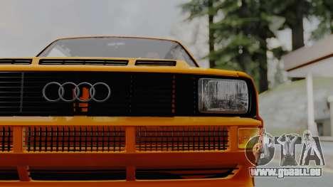 Audi Quattro Coupe 1983 für GTA San Andreas Rückansicht