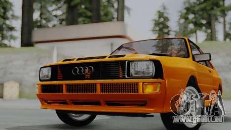Audi Quattro Coupe 1983 pour GTA San Andreas sur la vue arrière gauche